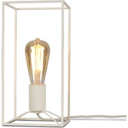Tafellamp ijzer Antwerp rechthoek, wit