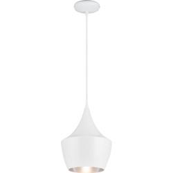 Linea Verdace Hanglamp Tipi Ø24 Cm Mat Wit - Zilver