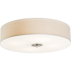 Ceiling Lamp Drum 50 Jute White