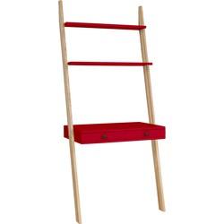 LENO ladder shelf desk rood