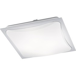 Modern Square Ceiling Lamp White Incl. LED - Cornet