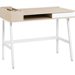 Bureau wit/licht hout 100 x 55 cm PARAMARIBO