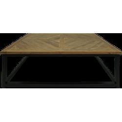 Salontafel met mozaïek inleg - 110x70 cm - dingklik teak/ijzer
