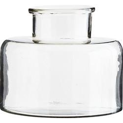 Madam Stoltz Vaas Glas Transparant - 23 x Ø28 cm