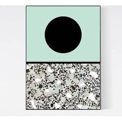 Terrazzo Poster - Moon Mint II
