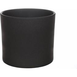 Pot Maceo Zand Structuur Antraciet Extra Large  36cm Keramiek