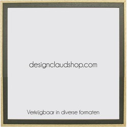 Houten wissellijst Groen/Blank kunststof venster - Div. formaten - 70x100 cm