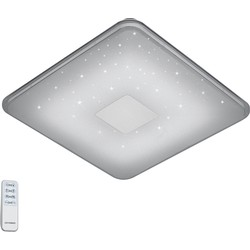 Modern Square Ceiling Lamp with Remote Control White Incl. LED - Samurai