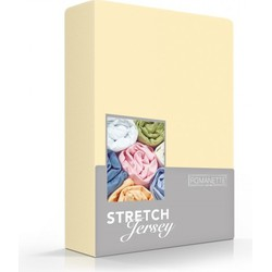 Romanette Hoeslaken Stretch geel Single Jersey 100% katoen 1-persoons 80/90/100x190/200