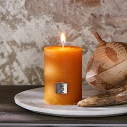 Rivièra Maison Rustic Candle Ocher Yellow 7x10 cm