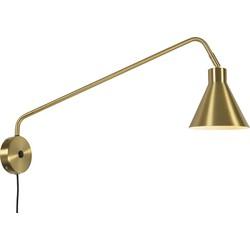 Wandlamp ijzer Lyon, goud