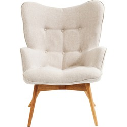 Kare Design Fauteuil Vicky Beige 92 x 63 x 59