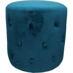 Kersten Poef velvet blauw