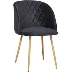 Marko stoel - zwart velours - set van 2