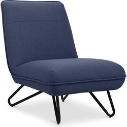 Lanterfant® Loungestoel Jeroen - Blauw - Bijpassende voetenbank verkrijgbaar