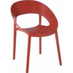 Lola - Stoelen - set van 2 - oranje  - polypropyleen kunststof - 55x57x77cm