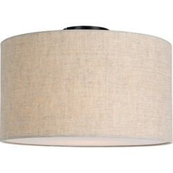 Modern Ceiling Lamp Black with 35cm Pepper Shade - Combi