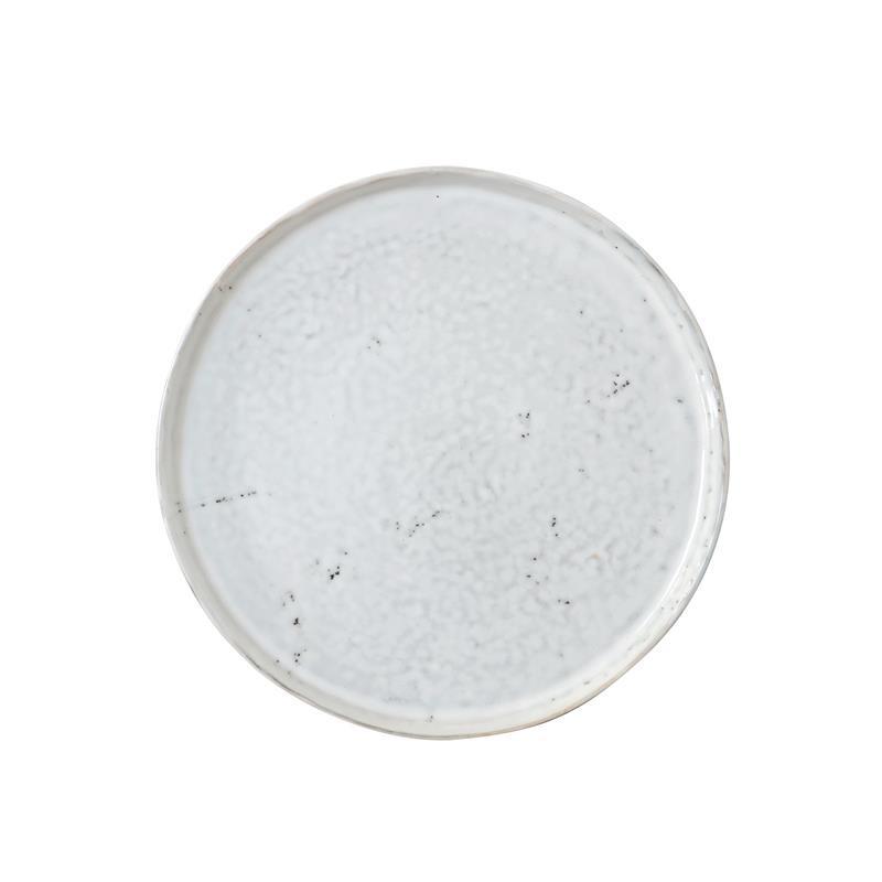 HK-living bord, ontbijtbord keramiek wit Ø 22 cm 22x22x1,8cm -