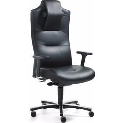 24Designs 24Designs Bureaustoel Big Size - Leer - Zwart