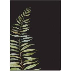 Varen blad poster DesignClaud - Puur Natuur Botanical - Zwart - A4 poster