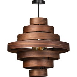ETH hanglamp Walnut 7 rings