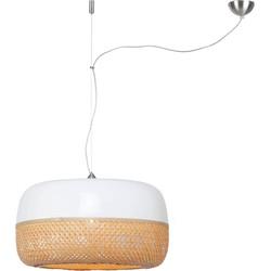 Hanglamp Mekong  bamboe plat enkel, L