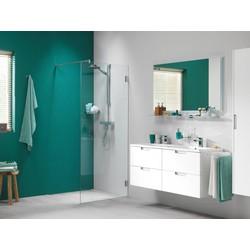 Get Wet by Sealskin I Am Inloopdouche 100x200cm Zilver-look/Helder glas (antikalk)