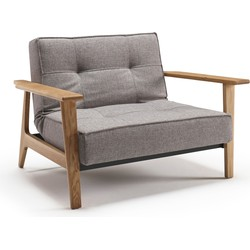 Innovation Fauteuil Splitback Frej Arm - Eikenhout - Mixed Dance 521 Grijs