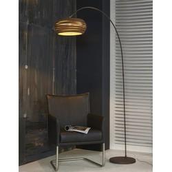 Vloerlamp boog 1L Carta / Bruin