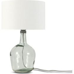 Tafellamp Murano 3220 linnen wit, S