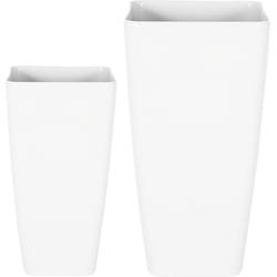 Bloempotten set van 2 wit MODI