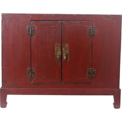 Fine Asianliving Fine Asianliving Kleine Antieke Chinese Kast Donker Rood - Tianjin, China