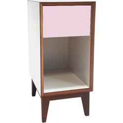 PIX nachtkastje klein met wit frame en dusky pink voorkant