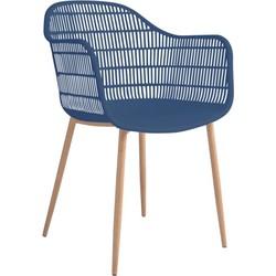 Tamy - Set van 2 stoelen - Blauw