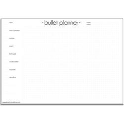 Bullet planner A3 DesignClaud - Zwart wit - 50 vellen