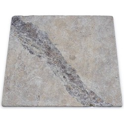Travertine Silver Tumbled 40,6 x 40,6 x 1 cm