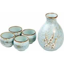 Fine Asianliving Japanse Soshun Sake Set Matte Blauw