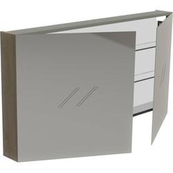 Thebalux Basic Spiegelkast 70x130x13,5 cm Nebraska Eiken