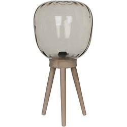 Mica Decorations gumbo vloerlamp bruin maat in cm: 57 x 28