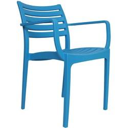 Breazz set van 2 Montieri tuinstoelen -  blauw