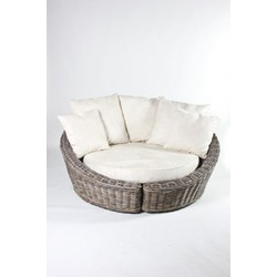 Rieten handgemaakte loungeset/Loveseat XL