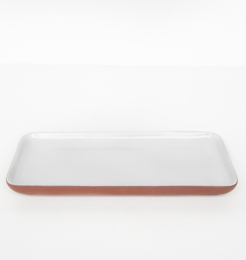 Plate share your food - Rectangular white -