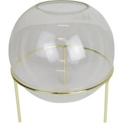Bolvaas glas goud groot - Housevitamin