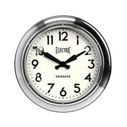 Newgate Giant Electric Wall Clock, Silver