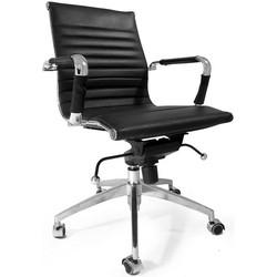 Leren design bureaustoel Soho zwart
