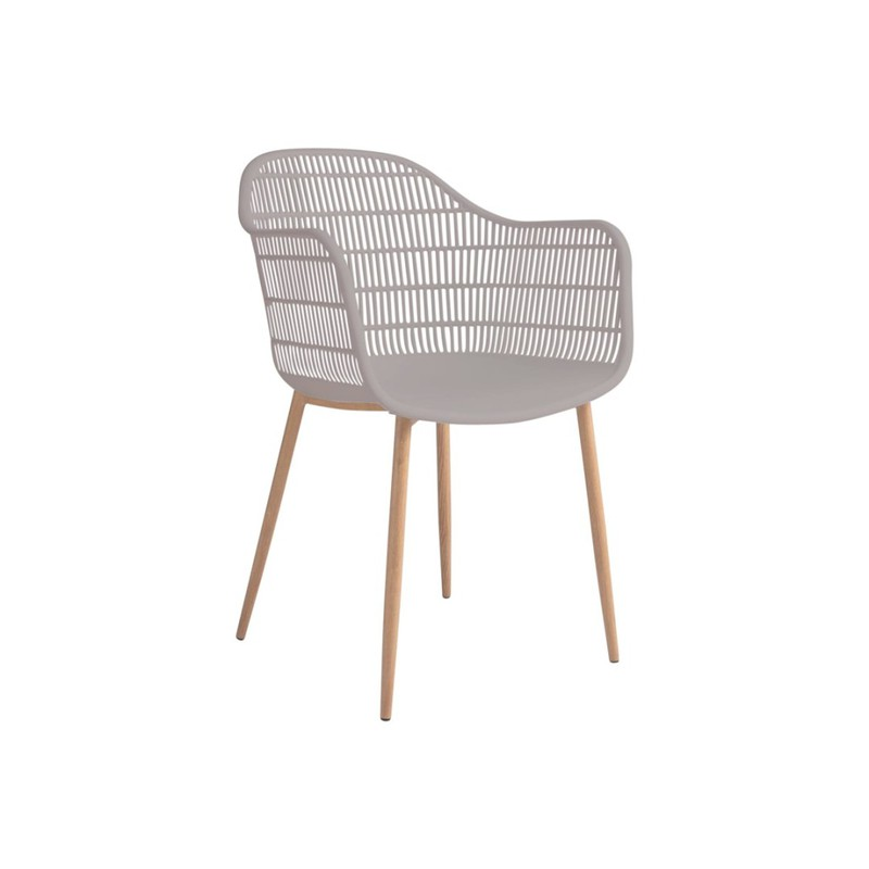 Tamy - Set van 2 stoelen - Taupe -