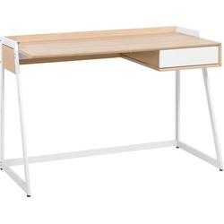 Bureau wit/licht hout 120 x 60 cm QUITO
