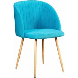 Flow stoel - blauw - set van 2