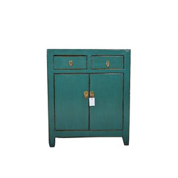 Fine Asianliving Fine Asianliving Kleine Antieke Chinese Kast Teal  - Dongbei, China