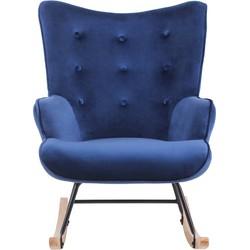 Schommelstoel Binky - Velvet blauw